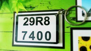 móc khóa biển số xe