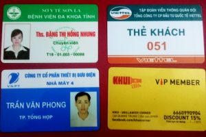 thẻ nhân viên nhựa pvc