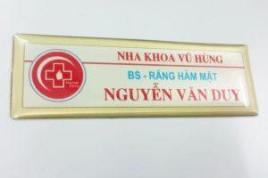 thẻ nhân viên nha khoa Vũ Hùng