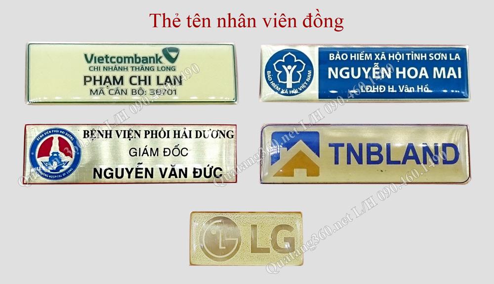 thẻ tên nhân viên đồng