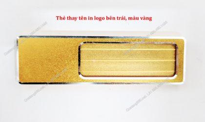 bảng tên thay tên in logo bên trái