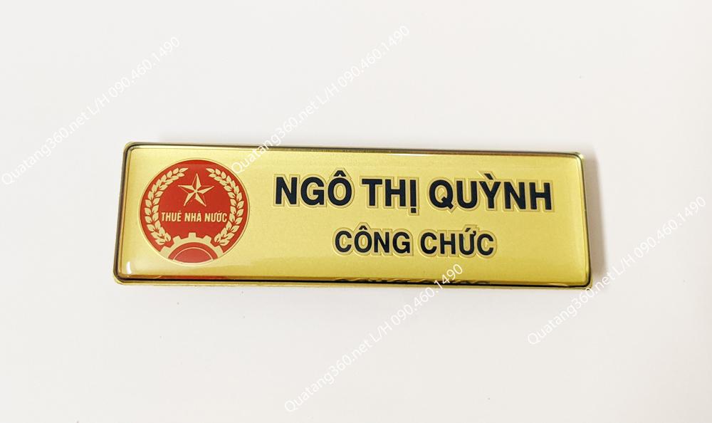 Thẻ tên Tổng cục thuế Quảng Ninh