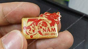 huy hiệu mạ vàng kỷ niệm 30 năm ngày thành lập